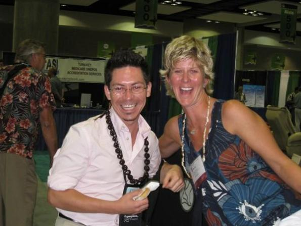 Meeting some of the Vendors at the APMA National Meeting 2008 in Hawaii