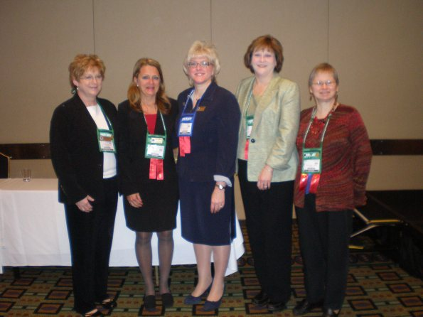 ASPMA Officers 2009-2010 and Outgoing President Nancy Diaz, PMAC.